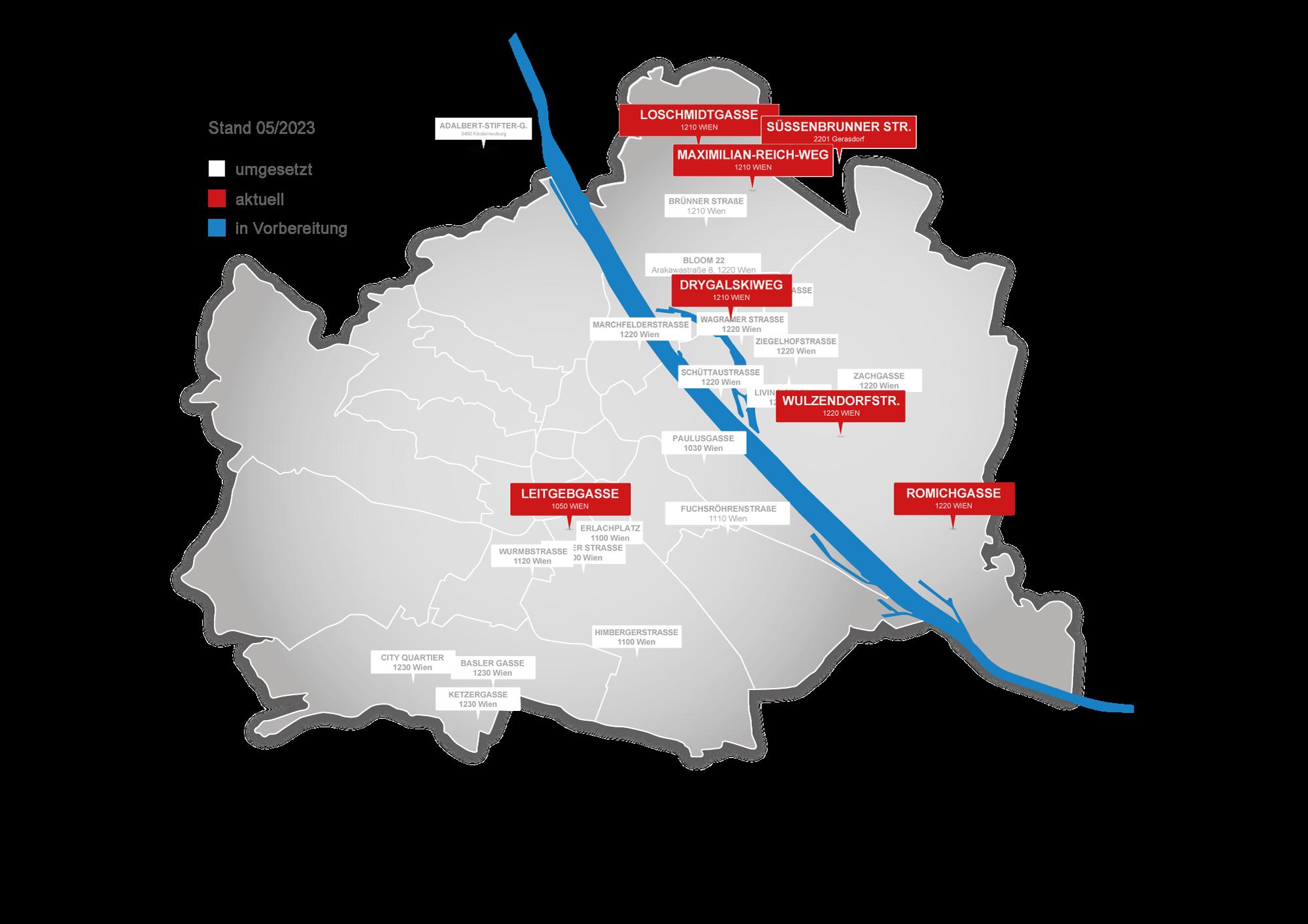 Projektübersicht Anlegerwohnungen Wien